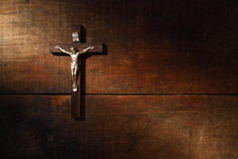 Wooden crucifix photo, cosma / Shutterstock.com