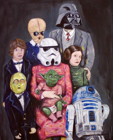 Star Wars family portrait via Steven Quinn / Star Wars blog.
