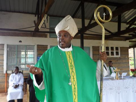 Rev. Peter Njogu, a former Roman Catholic priest, is now bishop of Restored Univ