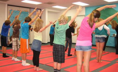 On-site corporate yoga classes in san diego, california.