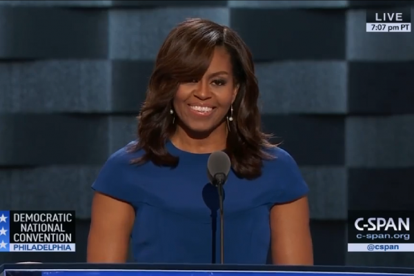 Michelle Obama at the DNC on Her Family's Motto: 'When They