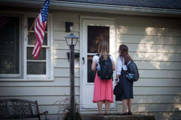 Mormon Missionaries Find Work, Meaning in Community Service
