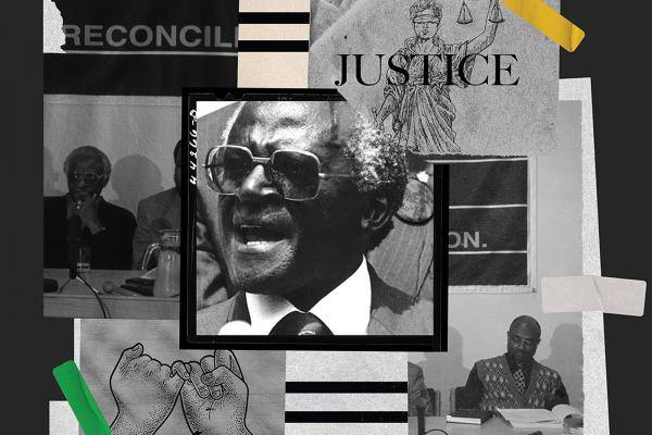 A collage of photos from various transitional justice commissions.