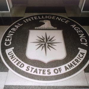 CIA floor seal, Public Domain via Wikimedia Commons