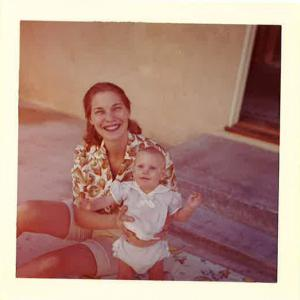 Cynthia Martens with her mother, photo via Cynthia Martens