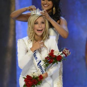 Miss America 2015 Kira Kazantsev and Miss America 2014 Nina Davuluri, via Disney