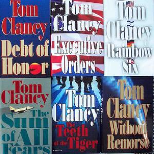 Tom Clancy novels, cdrummbks / Flickr.com