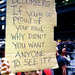 Protest sign at OWS in NYC today. Image via Facebook.