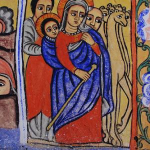 """Holy Family's flight to Ethiopia."" Image via http://bit.ly/w3Z2K9"