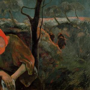 """""""The Agony in the Garden"""" by Paul Gaugin, 1889. Via Getty Images."""