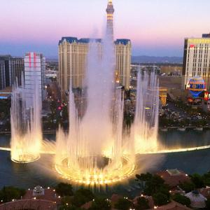 Bellagio Hotel's famous fountains. Image via Wylio http://bit.ly/tb6Xps