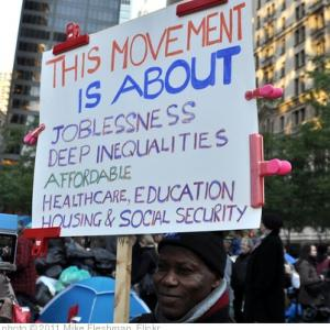 Sign Seen at Occupy Wall Street in October (Image by Mike Fleshman via flickr)
