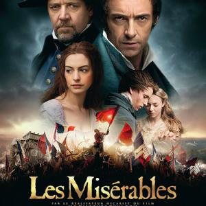 "Movie poster for ""Les Misérables"" from Universal Studios, Christmas, 2012"