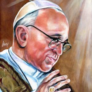 Painting of Pope Francis by faithmouse / Flickr.com