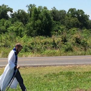 Rev. Jeff Hood begins his pilgrimage. twitter.com/revjeffhood