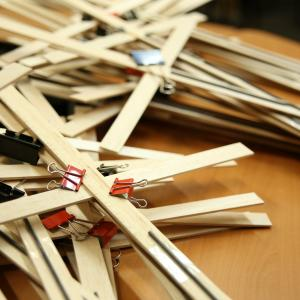 All last week, Sojourners staff and volunteers have been building crosses and pr