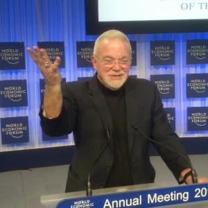 Jim Wallis speaking at the World Economic Forum in Davos