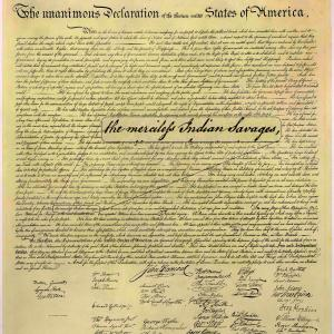 Declaration of Independence. Image via Mark Charles.