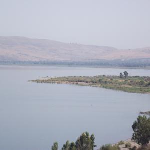 Overlooking the Sea of Galilee, photo courtesy Jon Huckins
