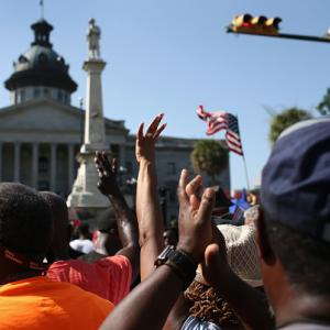 South Carolina lowers Confederate flag