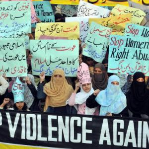 """Honour killing"" protest in Pakistan. (Photo: Arif Ali/AFP/Getty Images)"