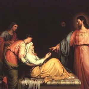 """Jesus Healing the Mother of Simon-Peter."" Via Wiki Commons http://bit.ly/zTeWKC"