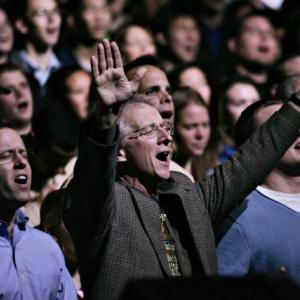 John Piper at his church in 2008. Image via Wiki Commons, http://bit.ly/wCFqsL.