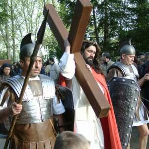Religious procession on good Friday in Stuttgart-Bad Cannstatt, Germany. Via Wik