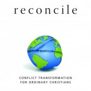 "The cover of ""Reconcile"" by John Paul Lederach. Image courtesy Christian Piatt/P"