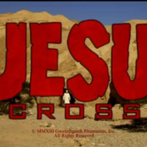 Screenshot of SNL's skit, DJesus Uncrossed. From Hulu.com