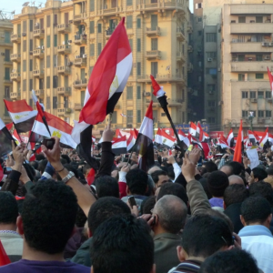 Egyptian flags in Tahrir Square. Photo courtesy nebedaay/flickr.com