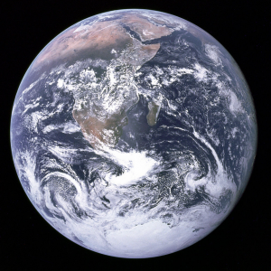 "The ""Blue Marble"" — Earth as seen from Apollo 17. Image courtesy Wikipedia Publi"