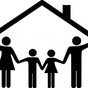 Family takes shelter. Image courtesy Nelosa/shutterstock.com