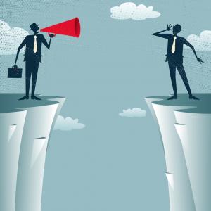 Communication gap. Image courtesy jorgen mcleman/shutterstock.com