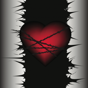 The wounding heart. Image via SAnya85/shutterstock.com