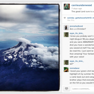 Screenshot of post on Carrie Underwood's Instagram feed. Photo courtesy http://i