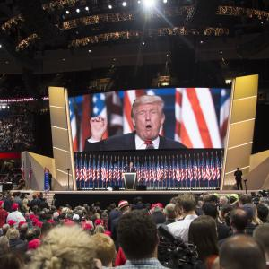 Donald Trump in his nomination acceptance speech July 21.