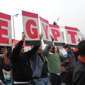 A peaceful demonstration floods Tahrir Square last Friday. Image courtesy of Kar