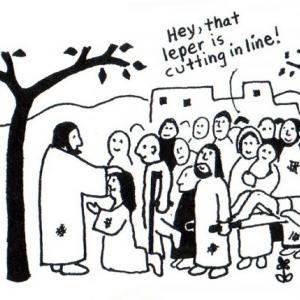 Jesus healing the lepers, © Daniel W. Erlander, http://danerlander.com