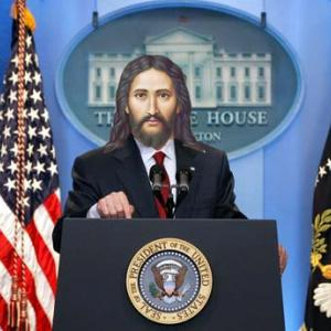 """""""Jesus as President."""" Image via Christian Piatt/Patheos."""