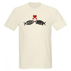 Jesus Loves Darwin T-Shirt, Image via Cafe Press