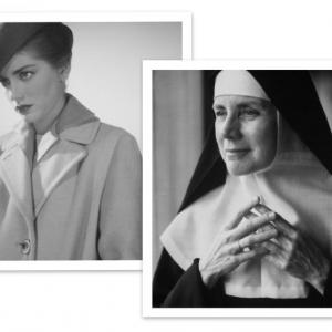 Mother Dolores Hart, as Hollywood starlet and after. Photos by Getty Images.