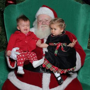 """Santa and the girls."" By Joe Shlabotnik via http://bit.ly/u6wWMc"