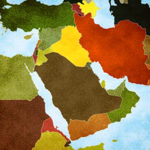 Map of the Middle East. Photo courtesy RNS/shutterstock.com.