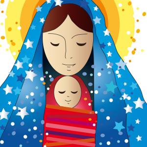 Mary and Jesus. Image courtesy Milena Moiola/shutterstock.com