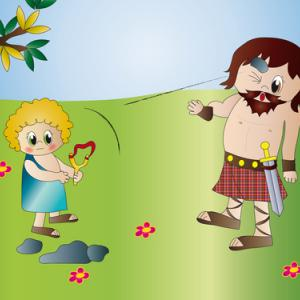 David and Goliath illustration, Milena Moiola / Shutterstock.com