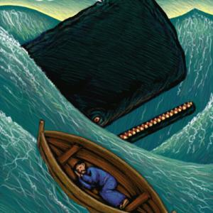 Artistic rendering of Jonah and the whale. Image courtesy Ron and Joe/shuttersto