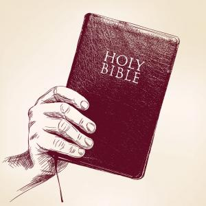 Hand-drawn sketch of the Bible, VladisChern / Shutterstock.com