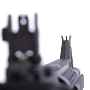 AR-15 front combat site, Artifexx / Shutterstock.com