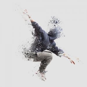 Shattered dancer image, markos86 / Shutterstock.com
